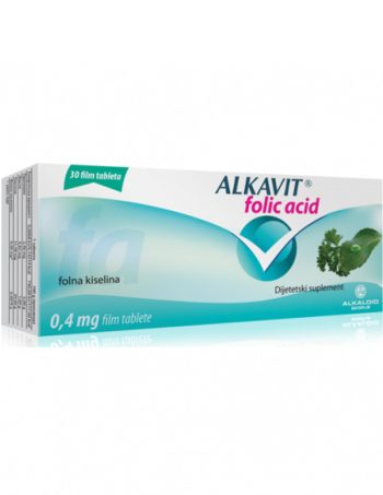 Alkavit FOLIC ACID tablete 30x0.4mg