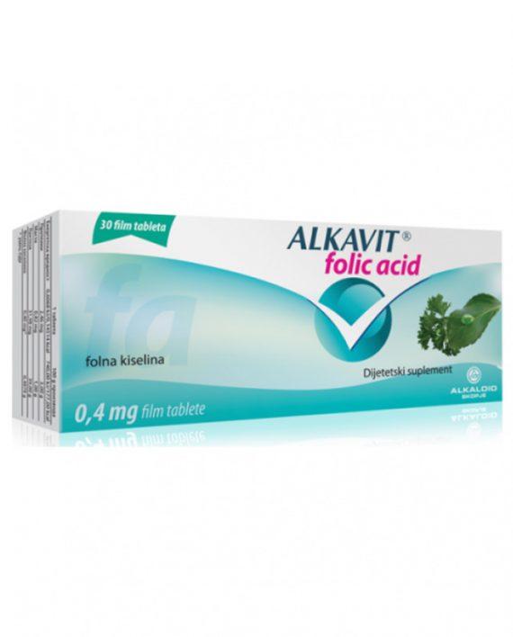 Alkavit FOLIC ACID tablete 30x0.4mg