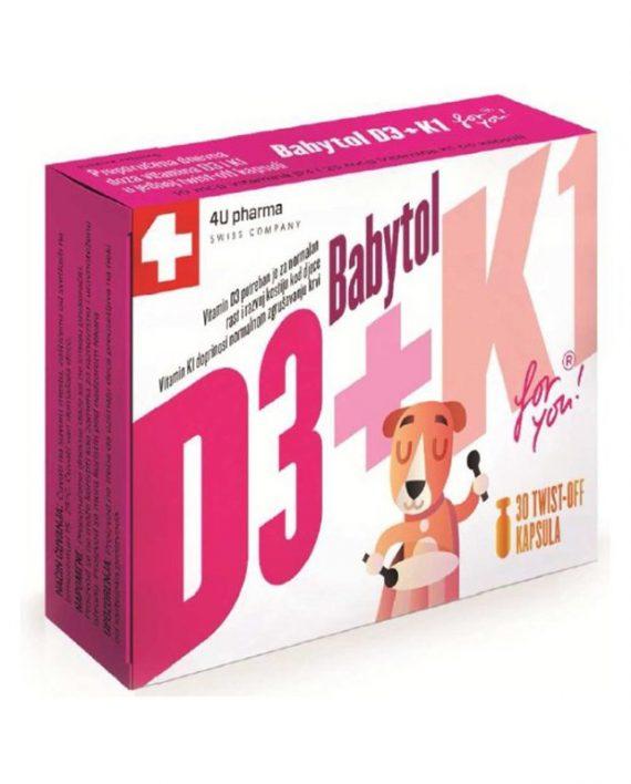 BABYTOL D3+K1, 30 twist-off kapsula