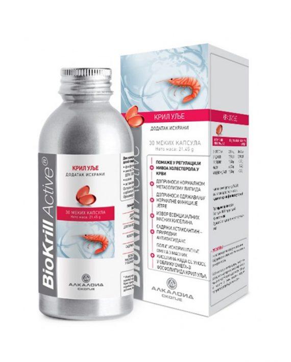 BIOKRILL ACTIV kapsule 30x500mg srce, holesterol