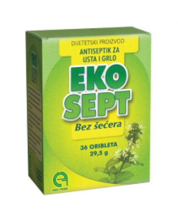 Ekosept antiseptik za usta i grlo BEZ SECERA 36 tableta