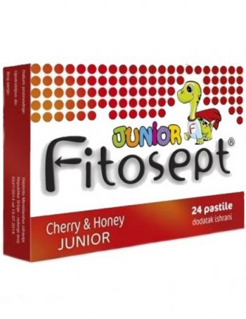 Fitosept Cherry & Honey JUNIOR pastile