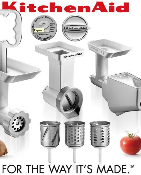 KitchenAid FPPC Mikser dodatak set - Brusilica, Mašina za sečenje, Cediljka za voće i povrće