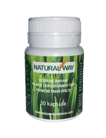 Natural Way sok od psenicne trave u kapsulama