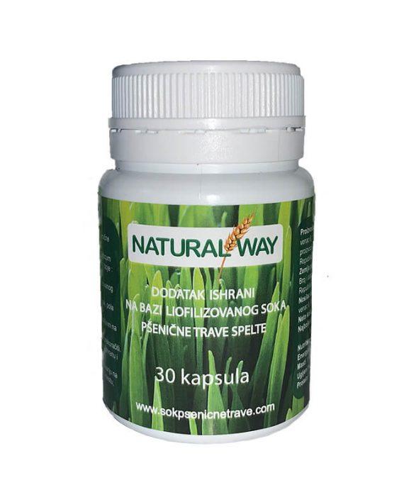 Natural Way sok od psenicne trave u kapsulama