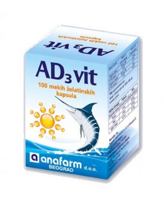 VITAMIN AD3 100 kapsula