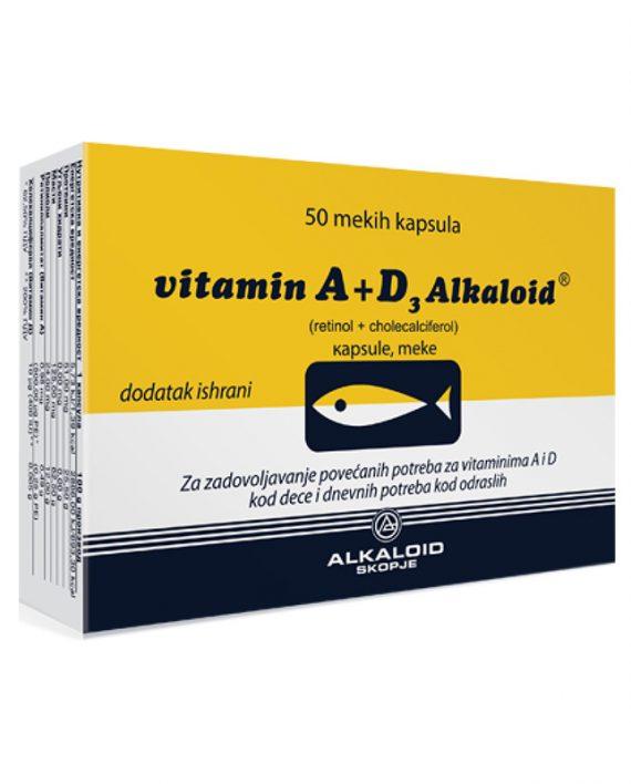 Vitamin A+D3 50 kapsula
