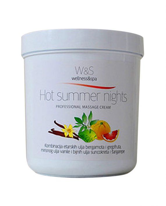 W&S profesionalne kreme za masazu Hot summer nights1
